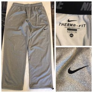 Nike Pants - EUC Nike Grey Therma-Fit Sweatpants